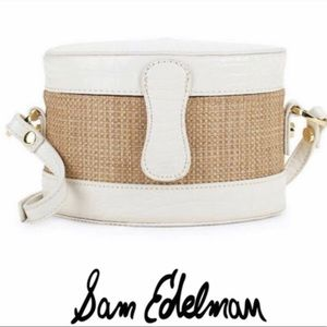 NWT Sam Edelman Evalynn  Straw Crossbody Bag